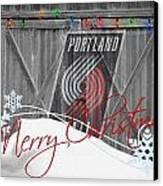 Portland Trailblazers Canvas Print by Joe Hamilton