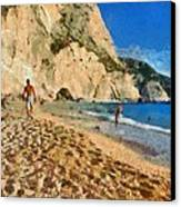 Porto Katsiki Beach In Lefkada Island Canvas Print by George Atsametakis