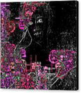 Portrait In Black - S01-02b Canvas Print by Variance Collections