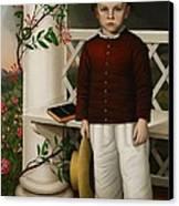 Portrait Of A Boy Canvas Print by James B Read
