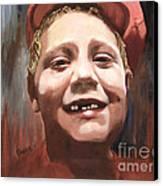 Portrait Of A Con Artist Canvas Print by Sharon Burger