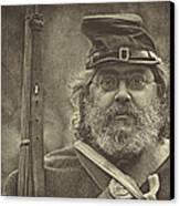 Portrait Of A Union Soldier Canvas Print by Pat Abbott