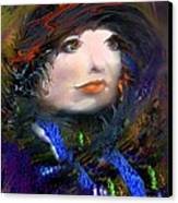 Portrait Of A Woman From A Long Time Ago Canvas Print by Doris Wood