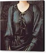 Portrait Of Baronne Madeleine Deslanders Canvas Print by Edward Burne-Jones