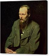Portrait Of Fyodor Dostoyevsky Canvas Print