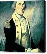 Portrait Of George Washington Canvas Print by James the Elder Peale