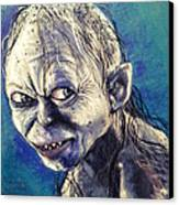 Portrait Of Gollum Canvas Print