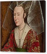 Portrait Of Isabella Of Portugal  Canvas Print by Workshop of Rogier van der Weyden