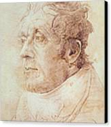 Portrait Of Jmw Turner Canvas Print by Cornelius Varley