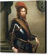 Portrait Of Nicolo Raggi Canvas Print by Bernardo Strozzi
