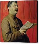 Portrait Of Stalin Canvas Print