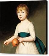 Portrait Of Thomas Allason Canvas Print by Francis Alleyne