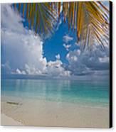 Postcard Perfection. Maldives Canvas Print