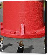 Postcards From Otis - The Hydrant Canvas Print by Mike McGlothlen
