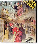 Poster Advertising The Montagnes Russes Roller Coaster Canvas Print