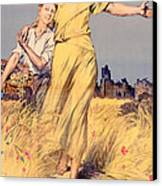 Poster Advertising The National Loan Canvas Print by Rene Lelong