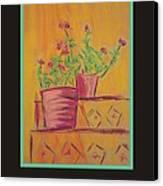 Poster - Orange Geranium Canvas Print by Marcia Meade