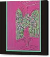 Poster -  Pink Patio Canvas Print by Marcia Meade