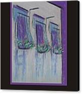 Poster - Purple Balcony Canvas Print by Marcia Meade