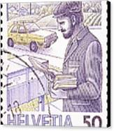 Postman Delivering Mail  Canvas Print