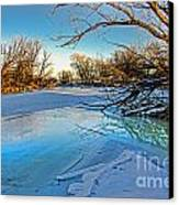 Poudre Ice Canvas Print by Baywest Imaging