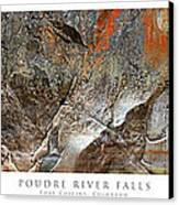 Poudre River Falls Fort Collins Canvas Print by Posters of Colorado