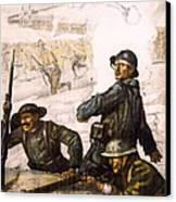 Pour La Victoire - W W 1 - 1918 Canvas Print by Daniel Hagerman