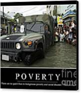 Poverty Inspirational Quote Canvas Print