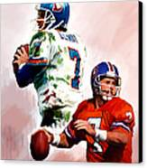 Power Force John Elway Canvas Print by Iconic Images Art Gallery David Pucciarelli