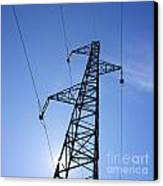 Power Pylon Canvas Print by Bernard Jaubert