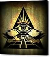 Power Pyramid Canvas Print by Milton Thompson