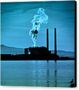 Power Station Silhouette Canvas Print by Craig B