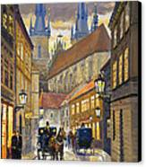 Prague Old Street Stupartska Canvas Print by Yuriy Shevchuk