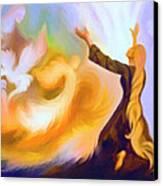 Praise Him Canvas Print by Susanna  Katherine