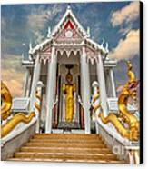Pranburi Temple Canvas Print by Adrian Evans