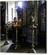 Praying At The Convent - Moscow - Russia Canvas Print by Madeline Ellis