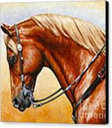 Precision - Horse Painting Canvas Print by Crista Forest
