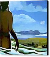Premonition - Bream Bay Goddess Canvas Print by Patricia Howitt
