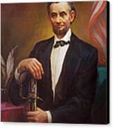President Abraham Lincoln Canvas Print by Svitozar Nenyuk
