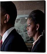 President And Mrs Obama Canvas Print