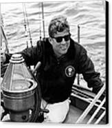 President John Kennedy Sailing Canvas Print by War Is Hell Store