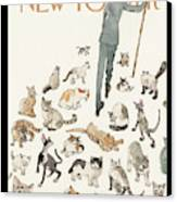 President Obama Attempts To Herd Cats Canvas Print