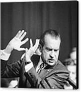 President Richard Nixon Gesturing Canvas Print