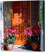 Pretty House Door In Key West Canvas Print