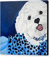Pretty In Blue Canvas Print by Debi Starr