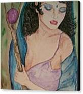 Priestess Canvas Print by Carrie Viscome Skinner