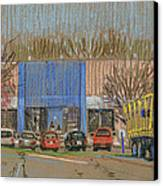 Primary Loading Docks Canvas Print by Donald Maier
