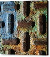 Primary. Secondary..rust... Canvas Print