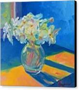 Primroses In Spring Light - Still Life Canvas Print by Patricia Awapara