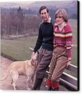 Prince Charles And Lady Diana Canvas Print